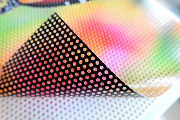 vinilo microperforado impreso